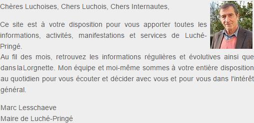 Accueil présentation Maire Luché-Pringé