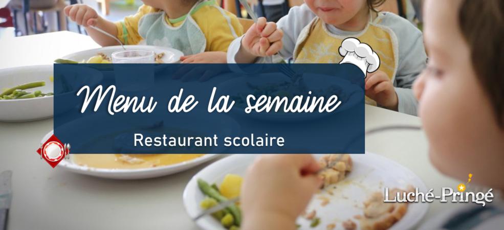 Menue semaine Luché-Pringé restaurant scolaire du 14 au 18 décembre